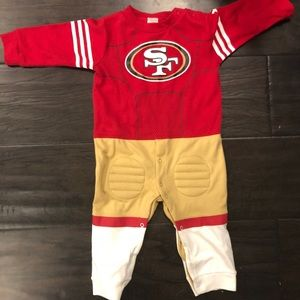 NWOT- 49ers one piece (12 months)